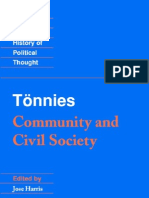 Tonnies Community and Civil Society