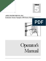 Model 500 Series Manual - Method 5