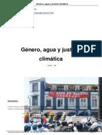 Género, agua y justicia climática. Sara López García. En Revista Viento Sur nº 168