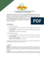 Contrato de maquila Deli Fresh Bread