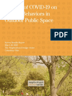 COVID-19 & Outdoor Public Space Survey Report, May 2020