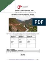 HIDROLOGIA TRABAJO- precipitacion media