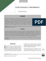 factores sociales y comportamentales