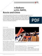 The Western Balkans between the EU, NATO, Russia and China