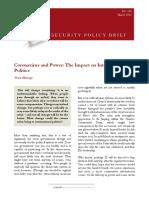 Coronavirus and power. Impact on International Politics
