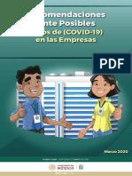 Recomendcacion ante posibles casos- Lineamientos Empresas Covid 16Mar20