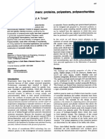 Synthesis of biopolymers proteins, polyesters, polysaccharides