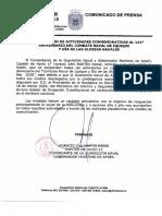 Comunicado Armada Suspende Actividades 21 de Mayo 2020