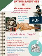 Estética de la recepción.