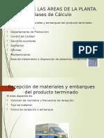 Cálculo de las áreas de la planta Baca, U.