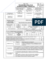 Programa analitică curs vz