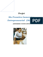 Projet Ma première immertion entrepreneurial