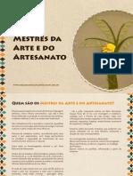Catálogo Mestres Arte Artesanato
