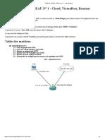 Partie III. GNS3 - Réseau n° 1 - Introduction