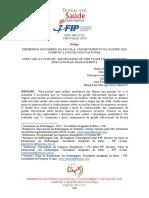 ARTIGO - PRIMEIROS SOCORROS NA ESCOLA - CONHECIMENTO DA EQUIPE QUE COMPOE A GE.pdf