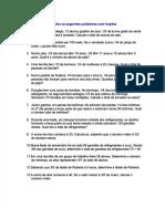 [PDF] Exercicio Matemática com  Gabarito Problemas com Frações_compress