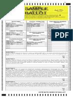 Falmouth Sample Ballot
