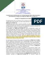 ACIN distanciamiento físico como mecanismo dism riesgo COVID 19 Versión final