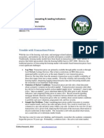 Active Housing Market Indicators to Future Prices - A Literature Review