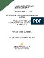 ACTIVIDAD # 5 USO Y CARACTERÍSTICAS DE LOS DATOS AGRUPADOS