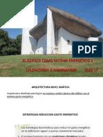 Tema 1. Arquitectura bioclimatica. Calefaccion e iluminacion. 2015-16