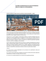 DESCRIPCIÓN DE VALORES PATRIMONIALES DE SITIOS PATRIMONIO MUNDIAL EN TIERRA DE LATINOAMÉRICA