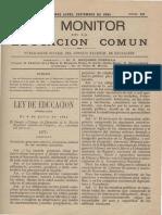 Monitor de la educacion septiembre 1884 numero 63 año 3