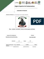 Unidad 4. actividad 6.- Análisis químicos de los fluidos de perforación