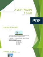 TEOREMA TALES Y PITAGORAS