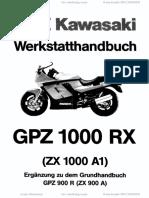 Kawasaki. Werkstatthandbuch GPZ 1000 RX (ZX 1000 A1) Ergänzung zu dem Grundhandbuch GPZ 900 R (ZX 900 A)