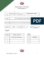 TA-1 Projecto - Auditoria Energética  - 2020 - 1