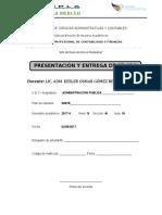 2. PRESENTACIÓN Y ENTREGA DE SILABOS