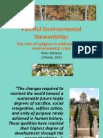Faithful Environmental Stewardship - Orlando 2010