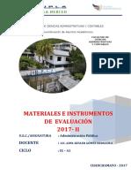7.  MATERIALES E INSTRUMENTOS DE EVALUACION