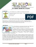 FICHA DE RELIGION 06 -  TERCER GRADO SECUNDARIA