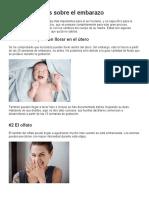 10 curiosidades sobre el embarazo