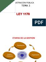 PRESENTACION TEMA 3 LEY 1178 - INTRODUCCION