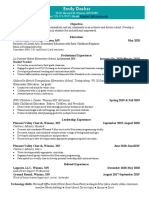 resume - updated post st
