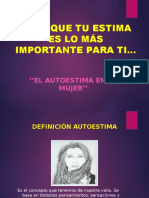 AUTOESTIMA DE LA MUJER