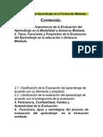 La Evaluación del Aprendizaje en la Formación Mediada