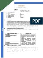 Silabo(Syllabus) Matemática Básica I - ISAM