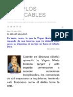 Laudetur Iesus Christus, Ejemplos predicables - La Virgen María, 1° parte