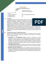 Silabo(Syllabus) Comunicación Efectiva I - ISAM