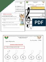 Material NOTAS MUSICALES Y EL PENTAGRAMA material 3era sesión