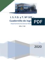 2020 Cuadernillo de Ingreso Naturales