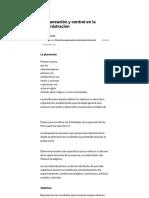 La planeación y control en la administración - GestioPolis