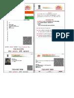 Aadhar card format