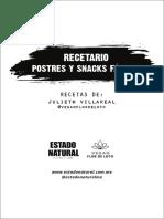 Recetas_Snacks y Postres Faciles