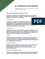 Tecnicas de Verificacion Documental