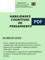 HABILIDADES COGNITIVAS DE PENSAMIENTO